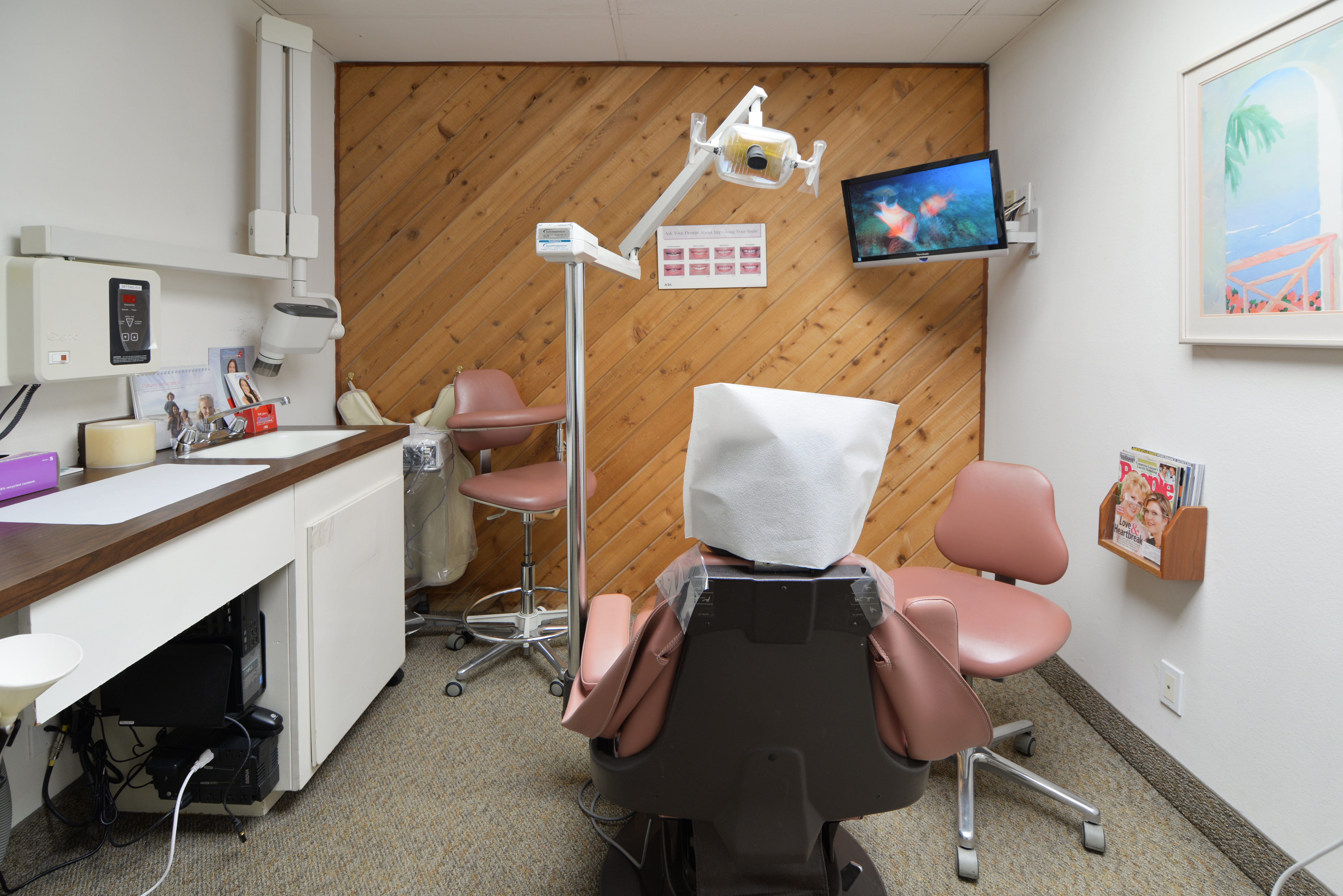 Patient in a dental chair at Bijan Family Dental Practice in Fountain Valley, CA