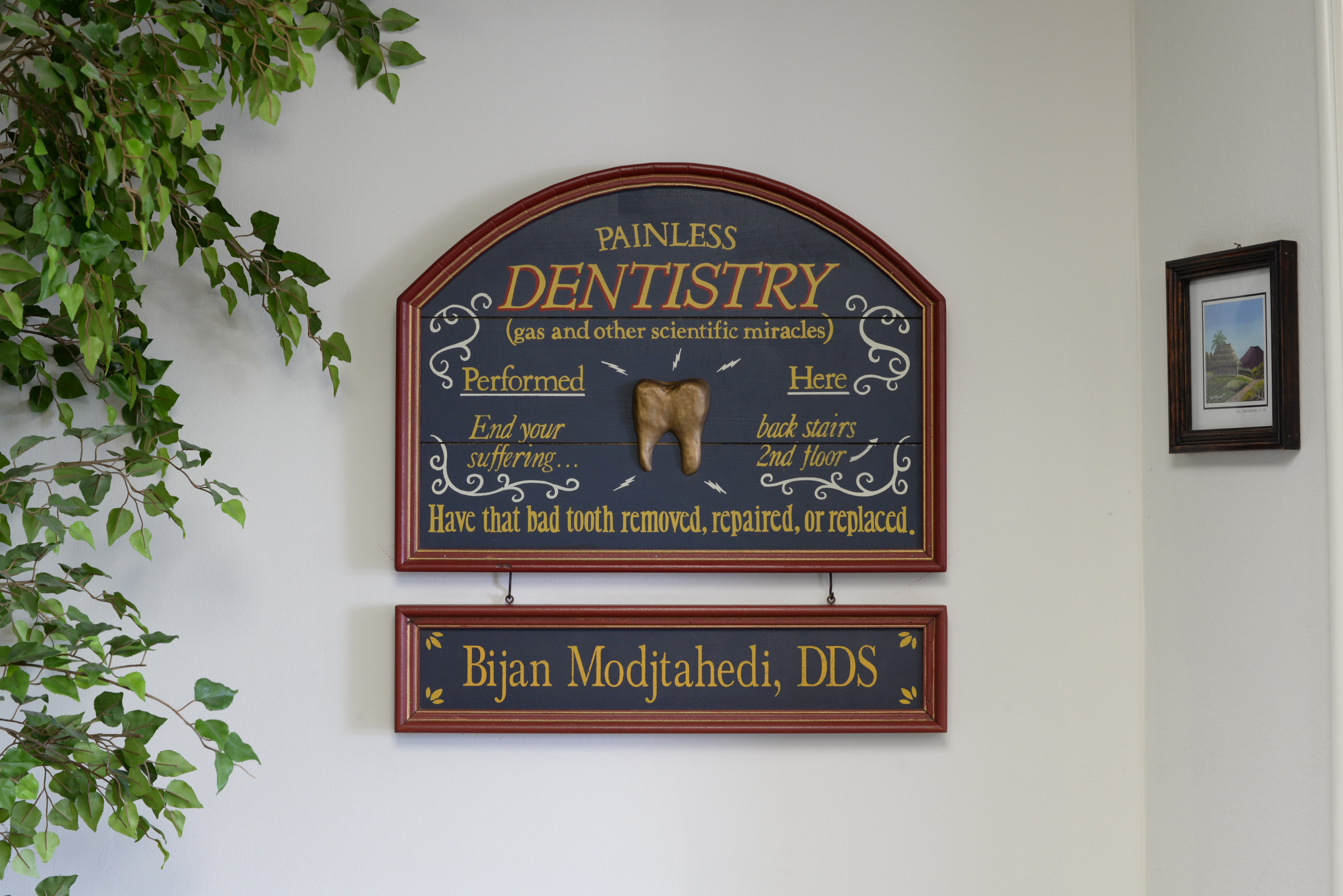 Outside Bijan Family Dental Practice in Fountain Valley, CA